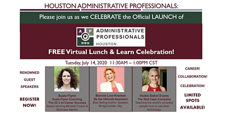 Administrative Professionals - Houston: Virtual Lunch & Learn FREE! tickets