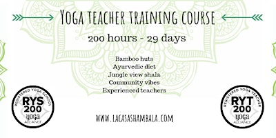 June 2021: 29 Day 200hr Hatha & Vinyasa Yoga Teach