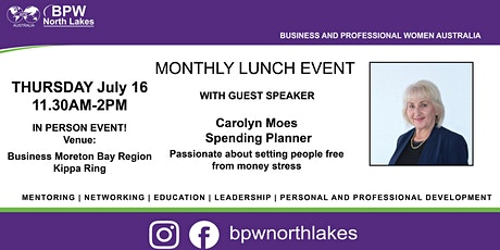 BPW North Lakes July Lunch tickets