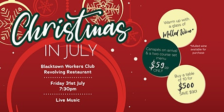 Christmas in July Dinner tickets