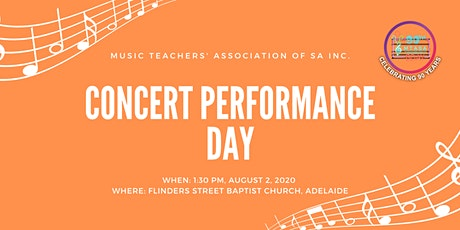 2020 Concert Performance Day tickets
