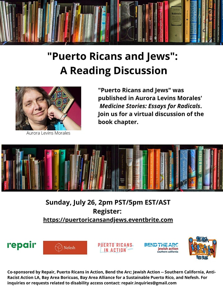 """""""Puerto Ricans and Jews"""": A Reading Discussion image"""