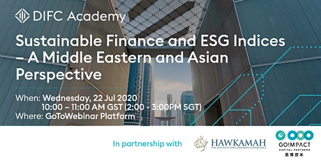 Sustainable Finance and ESG Indices–A Middle Eastern and Asian Perspective tickets