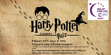 Harry Potter Themed Charity Quiz - Fundraising For -  Relay for Life Ascot tickets