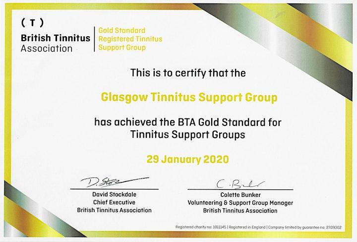 BTA – Glasgow & West of Scotland Tinnitus Support Group (16/03/2022) image