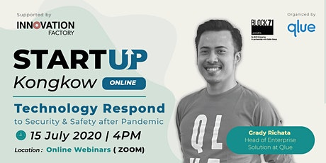 """Startup Kongkow x Qlue """"Technology Respond to Security after Pandemc"""" Tickets"""