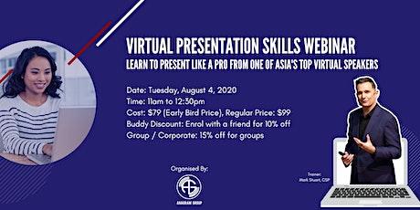 Virtual Presentation Skills - Present Like A Pro Tickets