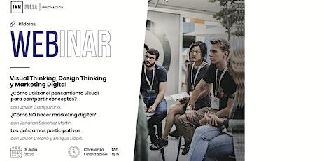 Visual & Design Thinking; MKT Digital; Préstamos Participativos: las claves tickets