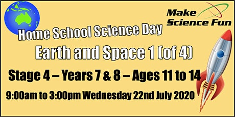 Home School Science Day -  Earth and Space 1 (of 4) - Years 7 and 8 tickets