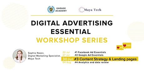 #3 Content Strategy & Landing pages - Digital Ad Essential Workshop Series tickets