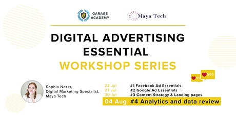 #4 Analytics and data review - Digital Ad Essential Workshop Series tickets
