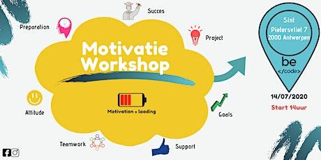 Motivatie Workshop BeCode Antwerpen tickets