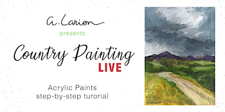 Country Painting LIVE - Acrylic Painting Tutorial  - Way to the Highlands biglietti