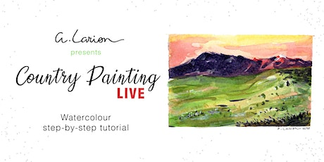 Country Painting LIVE - Watercolour Painting Tutorial - Warm shadows tickets