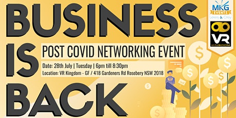 Business is Back - Post Covid 19 Networking Event tickets