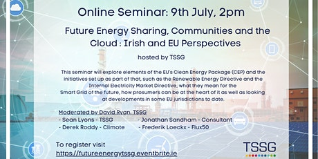 Future Energy Sharing, Communities and the Cloud Online Seminar tickets