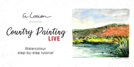 Country Painting LIVE - Watercolour Painting Tutorial - Lake and reeds tickets