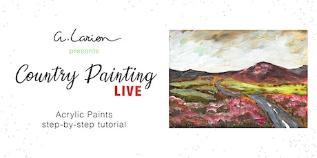 Country Painting LIVE - Acrylic Painting Tutorial  - Road and heather biglietti
