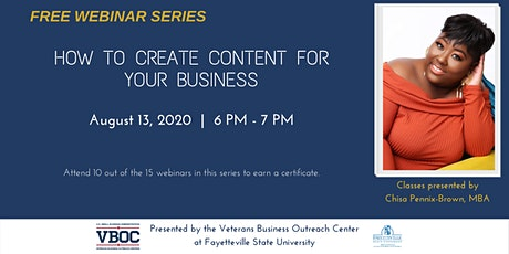 How to Create Content for Your Business Webinar tickets