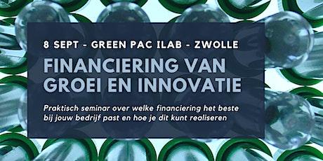 SEMINAR | Financiering van groei en innovatie tickets