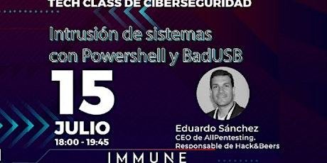 Intrusión de sistemas con Powershell y BadUSB entradas