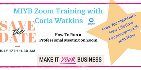 How To Run A Professional Meeting On Zoom tickets