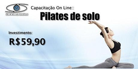 Capacitação ONLINE Pilates de solo bilhetes