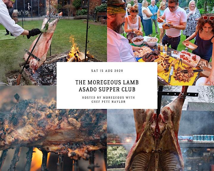 Moregeous Supper Club : Manc Asado. Full Lamb, BBQ Treats, Chocolate Table. image