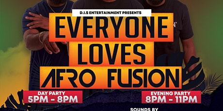 AFROFUSION EVENING PARTY:  AFROBEAT, HIPHOP, DANCEHALL &   TIME: 8PM - 11PM tickets