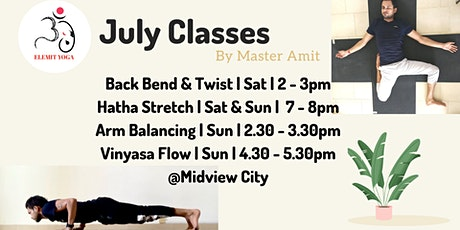July Classes tickets