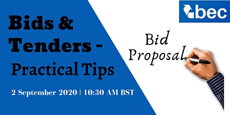 Bids and Tenders – Practical Tips tickets