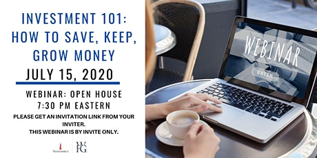 Investment 101: How To Save, Keep & Grow Money tickets