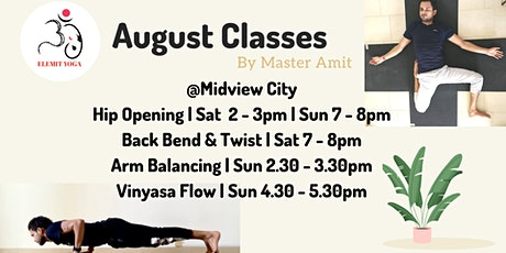 August Classes tickets
