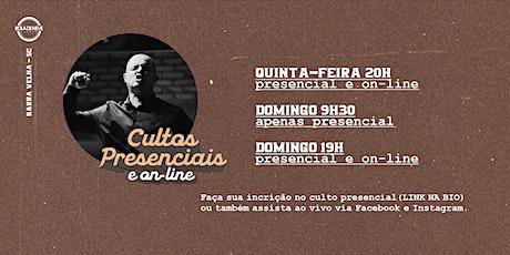 CULTO DOMINGO 9H30 (12-07-2020) ingressos
