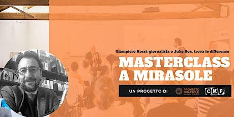 Giampiero Rossi: giornalista o Juke Box, trova le differenze biglietti