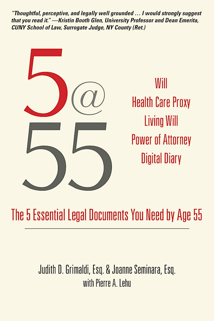 "Live with Purpose: ""The 5 Essential Legal Documents you need by Age 55"" image"