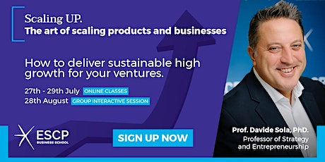 Scaling UP. The art of scaling products and businesses tickets