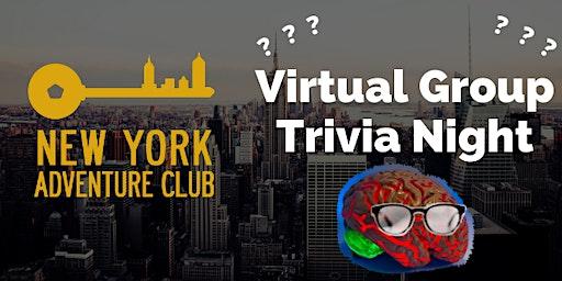 NY Adventure Club Virtual Group Trivia Night