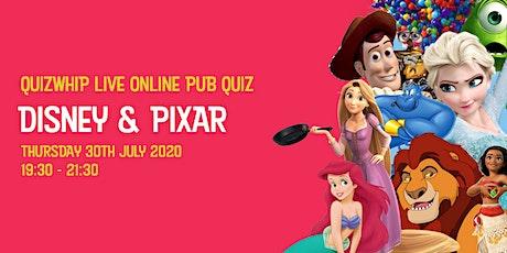 Disney & Pixar - Live Online Pub Quiz from QuizWhip tickets
