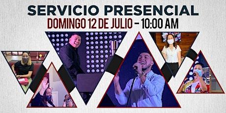 Servicio Familiar 12 de Julio de 2020 - 10:00 AM boletos