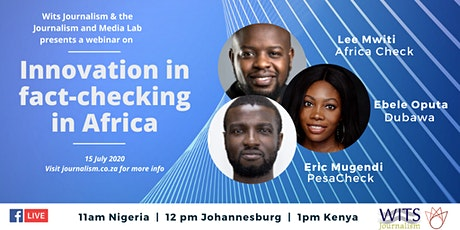 Midweek Webinar | Innovation in fact-checking in Africa tickets