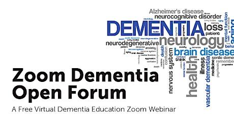 Zoom Dementia Open Forum tickets