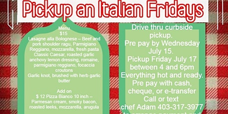 Pickup an Italian Fridays tickets