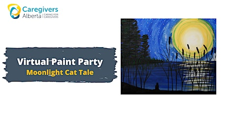 Virtual Paint Party: Moonlight Cat Tale tickets