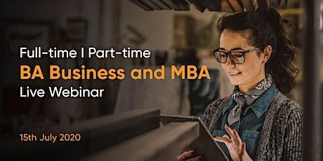 IBAT College Dublin - July BA (Hons) Business + MBA FREE Webinar tickets