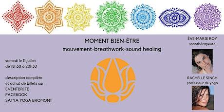 Moment bien-être mouvement- breathwork - sound healing billets