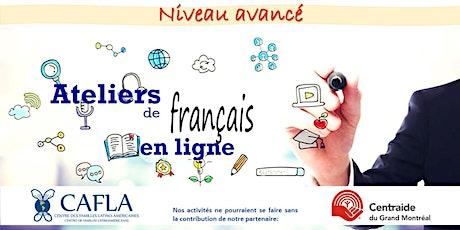 Atelier - Français niveau avancé / Taller - Francés nivel avanzado entradas