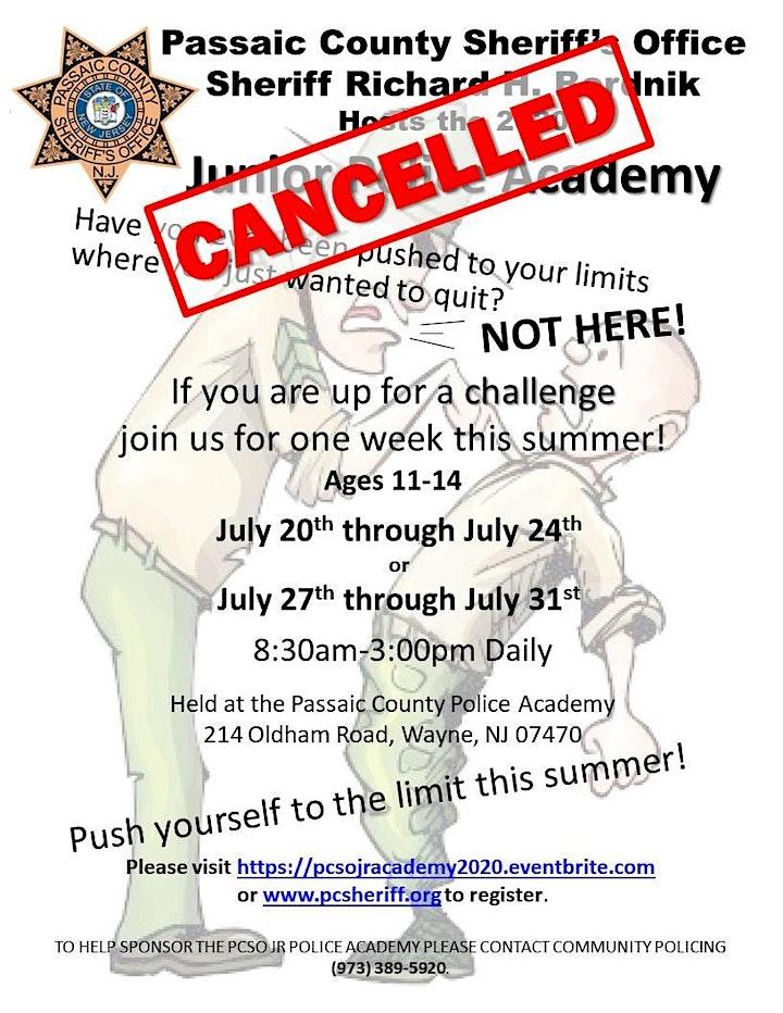 Passaic County Sheriff's Office Junior Police Academy 2020 image
