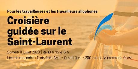 Croisière guidée sur le Saint-Laurent tickets