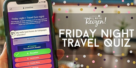 Friday Night Travel Quiz - 31 juli tickets